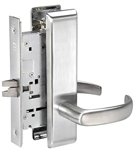 Yale Mortise Lockset, Lever, Dull Chrome - PBCN8801FL x 626