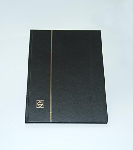 (Lighthouse Hardcover Stamp Album Stockbook With 32 Black Pages, Black, LS4/16)