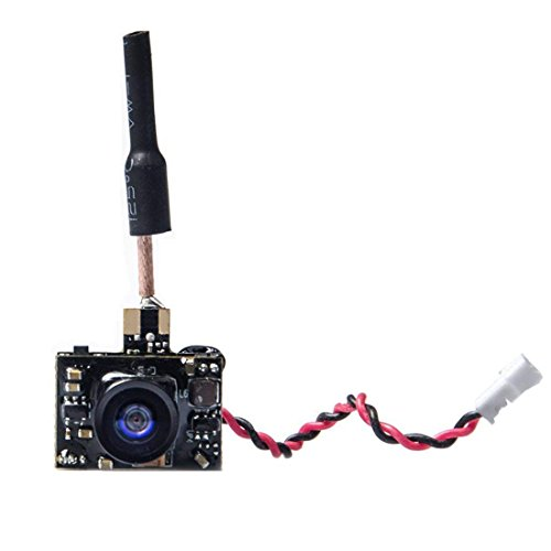 GOQOTOMO GT03-D AIO 5.8G 40CH 25/50/200MW Switchable FPV Video Transmitter with Micro 600TVL Camera and Dipole Brass Antenna