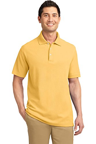(Port Authority Men's EZCotton Pique Polo XL Maize Yellow)