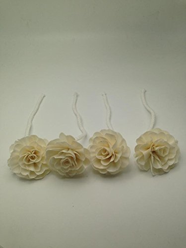 Diffuser Flowers Chrysanthemum Balsa 7 cm Dia. with cotton rope made from natural.