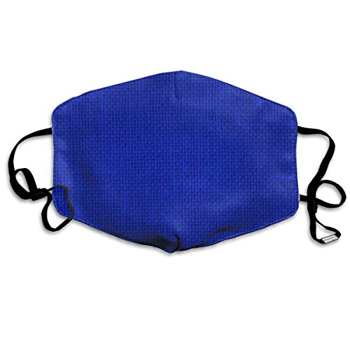 (Whages Natural Woven Royal Blue Burlap Sack Cloth Washable Reusable Safety Breathable Mask, 4.3