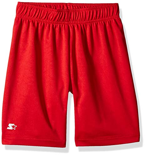 (Starter Boys' Knit Soccer Short, Amazon Exclusive, Team Red, S (6/7))