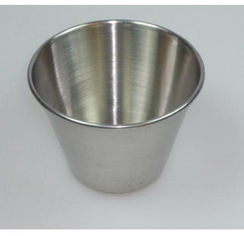 Viva-Haushaltswaren - 8 einfache Puddingförmchen / Timbale / Dariol / Dariolformen / Backformen Ø 7 cm Höhe : 4,5 cm aus Edelstahl