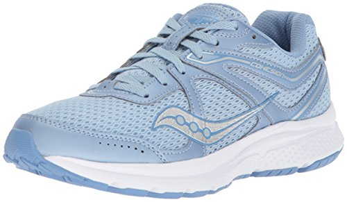 Saucony Women's Cohesion 11 Running Shoe, Fog/Blue, 7.5 Medium US