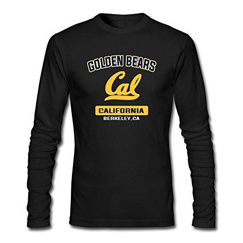 Men's Cal Bears Campus Logo Long Sleeve T-shirts Black