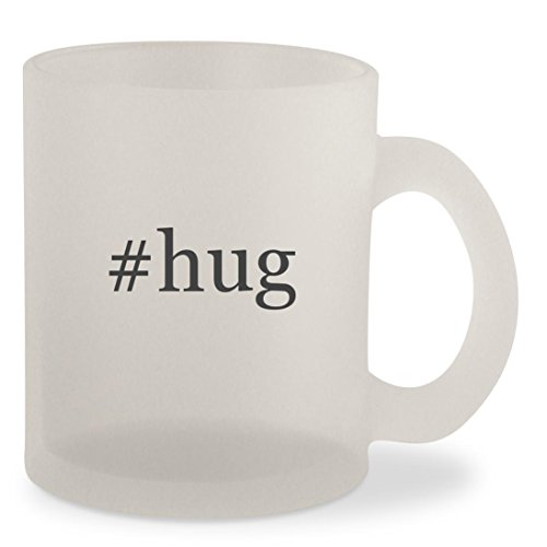 #hug - Hashtag Frosted 10oz Glass Coffee Cup - Me Instagram Spot Girl