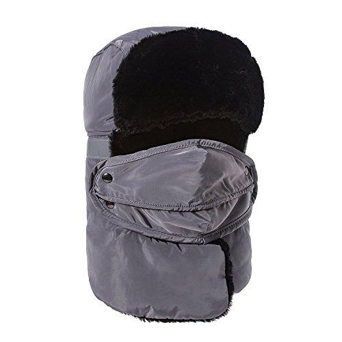 Aidonger Unisex Klassisch multifunktional Fliegermütze Ohrenschütze Masken Schal, Reflektorband sichert Ihnen in der Nacht und bei Schnee Wetter