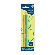 Staedtler Wopex 180F BK3-2 Neon HB Premium Quality Pencils - Green, Orange, Blue (Pack of 3)