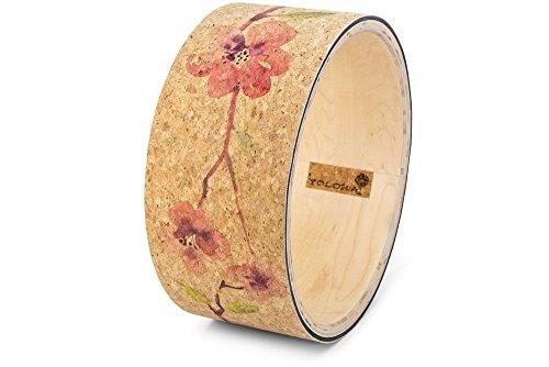 Yoloha Premium Cork Yoga Wheel Blossom, Strong, Non Slip, Sustainable, Soft, Durable, Foam, Highest Quality, Premium, Handmade, Moisture Resistant – Yoga Wheel Guide ()
