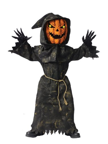 Fun World Bobble Head Pumpkin Costume, Medium 8 - 10, Multicolor
