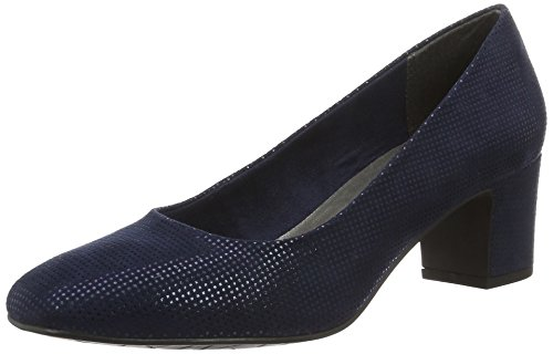 Marco Tozzi Damen 22426 Pumps Blau (NAVY METALLIC 824)
