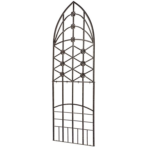H Potter Garden Trellis for Climbing Plants Wrought Iron Metal for Vine Rose Flower 309