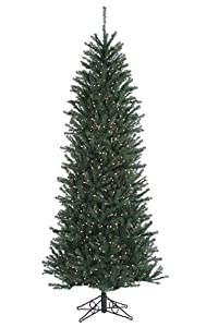 santas own slim alexandria pine pre lit artificial christmas tree with clear lights 12 - Christmas Tree Slim