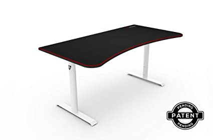 amazon com arozzi arena gaming desk white home kitchen rh amazon com cheap gaming desktop under 200 cheap gaming desktop under 300