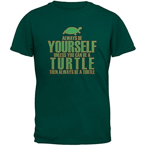 Always Be Yourself Turtle Green Youth T-Shirt - X-Large(18)