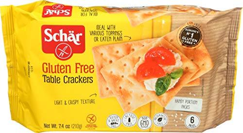 Dr Free Schar Gluten (Schär Gluten Free Table Crackers, 7.4 oz., 6-Pack)