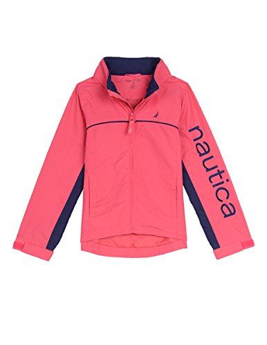 Nautica Toddler Girls' Logo Anchor Jacket, Bright Pink, 3T - Logo Fleece Jacket