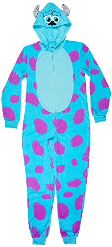 Disney Women's Sulley Cos Play Hoodie Union Suit, Blue, Medium (Cute Monster Costumes For Girls)