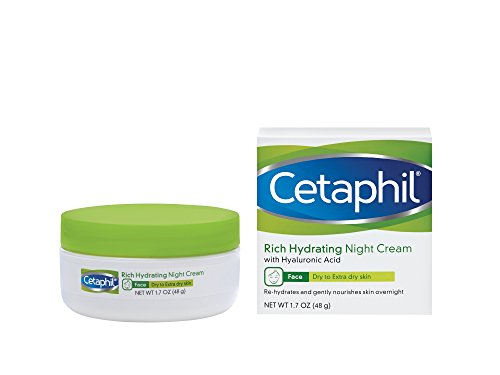 Cetaphil Rich Hydrating Night Cream with Hyaluronic Acid, 1.7 Ounce (Best Cleanser Toner And Moisturiser)