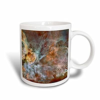 3dRose mug_76816_2 Galaxy and Nebula Eta Carinae Nebula by Nasa Hubble Telescope Ceramic Mug, 15-Ounce