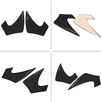 1 Pair Motorcycle Tank Traction Pad, Keenso Anti-Slip Knee Grip Protector Sticker for Yamaha MT-07 FZ-07 2014-2016