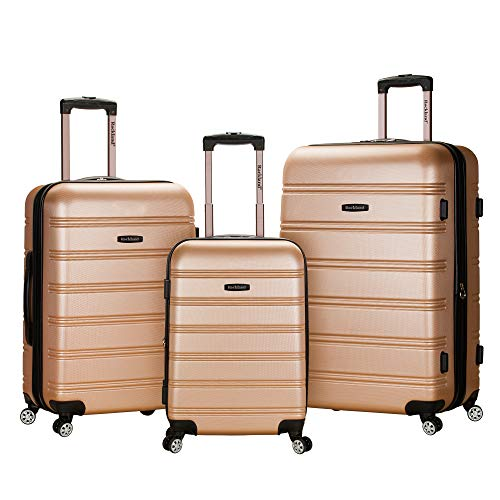 (Rockland Melbourne 3 Pc Abs Luggage Set, Champagne)