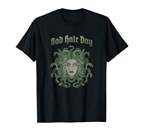 Funny Medusa BAD HAIR DAY T-Shirt Greek Myth TShirt ()