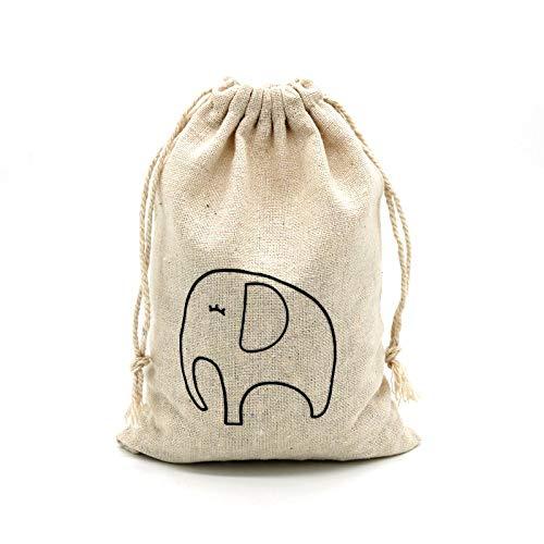 Handmade: 5PCS 10x14CM Jewelry Handmade Cotton Linen Storage Package Bag Drawstring Bag Small Coin Purse Cloth Bag Pouch ()