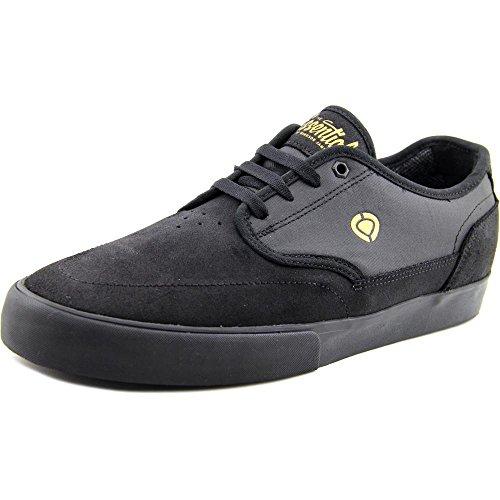 C1RCA Men's Essential Skateboarding Shoe, Black/Gold, 10 M US 100055