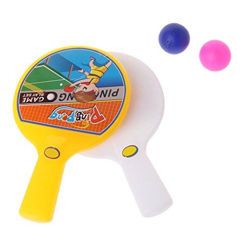 JAGENIEポータブルミニ卓球ラケット2ピンポンバットボールキッズ子供ToyChristmas新年ギフト、1 PC、ランダム配信