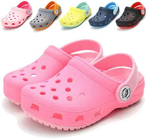 0a23072885eed COSANKIM Kid's Boys Girls Classic Clogs Lightweight Water Pool Cute Garden  Shoes Slides Sandals Slip On
