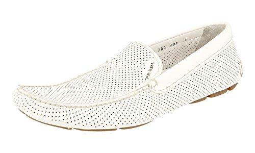Men's 2DD003 ZLS F0009 Saffiano Leather Loafers