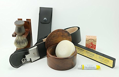 Premium Dovo Straight Razor Wood Shaving Set -- Includes Gift Box by GBS (Image #9)