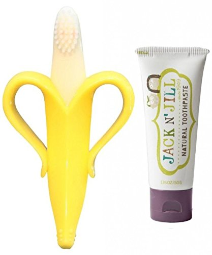 Baby Banana Toothbrush Toothpaste Blackcurrant product image