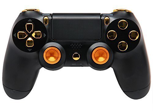 BlackGold-Aluminum-Thumbsticks-Ps4-Rapid-Fire-Custom-Modded-Controller-35-Mods-COD-Advanced-Warfare-Destiny-Ghosts-Quick-Scope-Auto-Run-Sniper-Breath-and-More