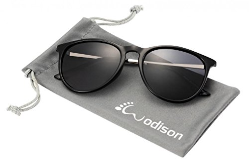 WODISON UV400 Vintage Classic Polarized Wayfarer Sunglasses for Men & Women Black - Sunglasses Shape Buying Face Your For