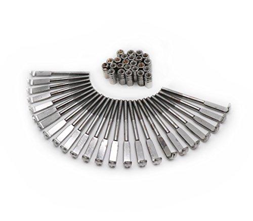 (Timiy 1Set of 24Pcs Standard Banjo Bracket Hook & Nut Banjo Accessories Silver)