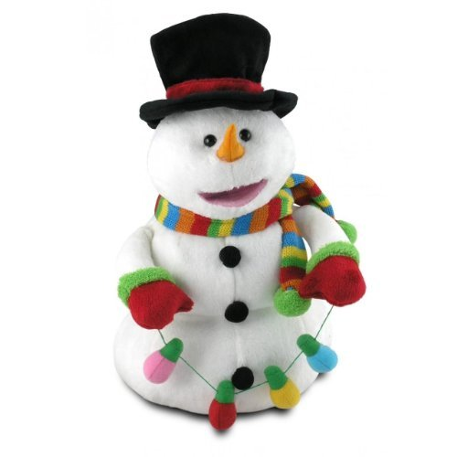 Cuddle Barn | J. Frost 13'' Animated Stuffed Animal Plush Toy | Dancing & Singing Snowman | Sings Frosty The Snowman by Cuddle Barn
