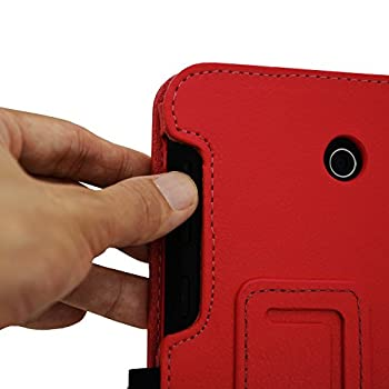 Acdream Asus Memo Pad 7 Lte Case, Premium Pu Leather Smart Cover Case For At&t Asus Memo Pad 7 Lte Gophone Prepaid Tablet Me375cl, Red 8