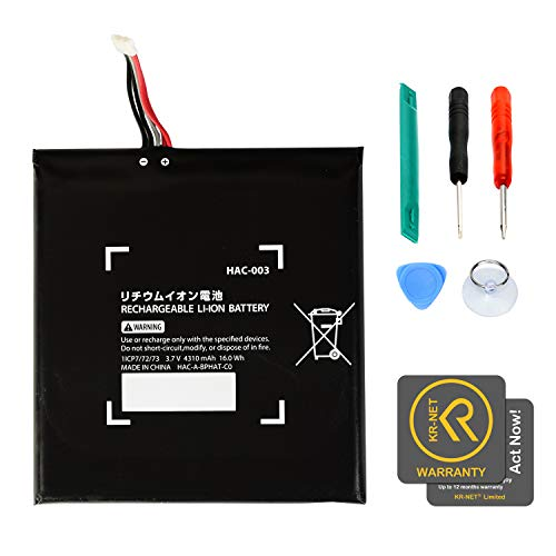 KR-NET 4310mAh Internal Battery Replacement Part HAC-003 for Nintendo Switch + Tools