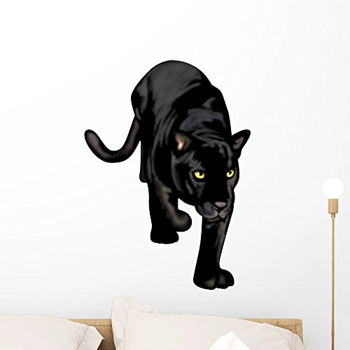 Wallmonkeys Black Panther Wall Decal Peel and Stick Graphic WM102568 (24 in H x 18 in W)