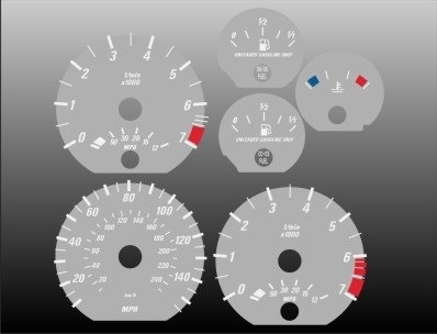 - 2000-2006 BMW 3 series Coupe Grey Face Gauges E46