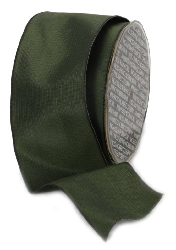 Ampelco Ribbon Company French Wired 27-Yard Taffeta Ribbon, 2.5-Inch, Forest Green