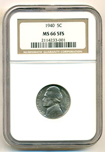 (1940 Jefferson Nickel MS66 5FS)
