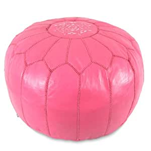 Fantastic Ikram Design Moroccan Pouf 20 Inch By 13 Inch Dark Pink Caraccident5 Cool Chair Designs And Ideas Caraccident5Info