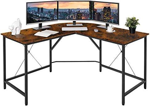 Best home office desk: BAHOM 55″ L-Shaped Computer Desk