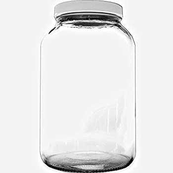 bolt goods 1 gallon wide mouth glass mason jar airtight plastic lid with liner. Black Bedroom Furniture Sets. Home Design Ideas
