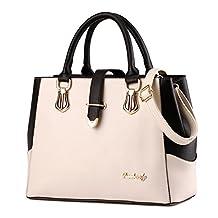 Tibes Ladies PU Leather Handbag with Shoulder Strap
