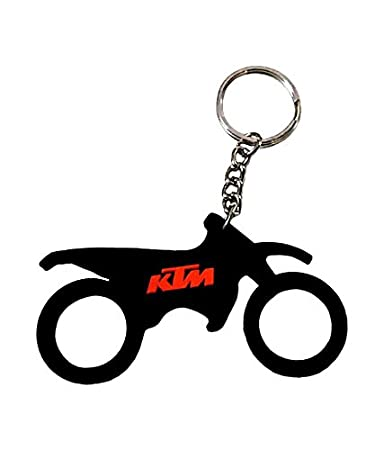 GCT Single Sided KTM Bike Logo Rubber Keychain for Car Bike Men Women  Keyring (Black)  Amazon.in  Bags 2ba2ec3638